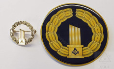 Masonic Widows Broken Column Pin & Car Decal set