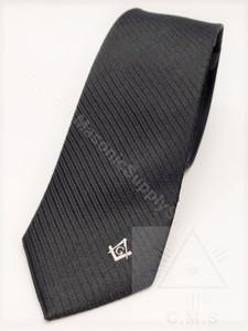 Black Masonic tie
