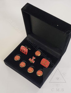 Royal Arch Cuff Links and Shirt Stud set