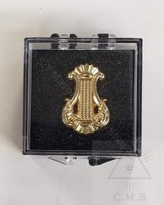 Masonic Organist  Harp lapel Pin