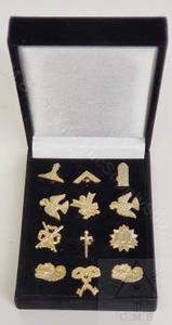 Box Set of Masonic lodge Officers lapel pins
