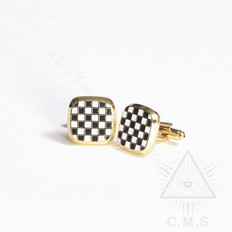 Masonic Cuff  Links   Mosaic Pavement