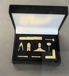 Miniature Set of Masonic Working Tools  set of 9 Tools