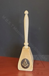 Masonic Upright Presentation Gavel
