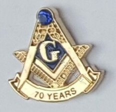 70 Year Masonic lapel Pin