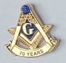 70 Year Masonic lapel Pin