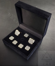 Masonic Pavement  Cuff Link & 5 Shirt Stud set