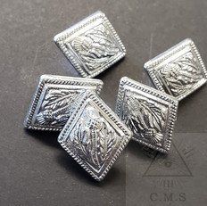 King Charles Jacket  Silver Buttons  set of 5