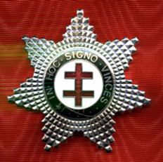 Knight Templar Preceptor Star Jewel Silver