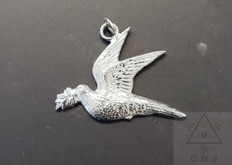 officers jewel   Dove  color silver    New