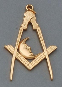 officers jewel   Junior Deacons Moon Gold color