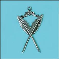 Secretary  Jewel  Crossed Quills  Silver