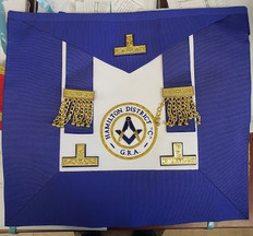 Masonic Collectible  Apron   114  Grand  Lodge  Apron