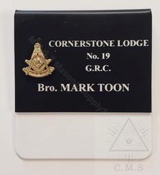 masonic past masters name badge