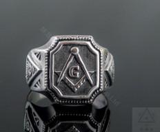 Silver Masonic Ring