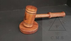 Chairman's Gavel Engraved with Square & Compass
