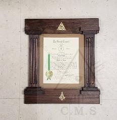 Masonic Certificate Frames