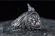 Viking Raven Silver  Ring