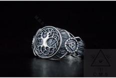 Viking Ring with Yggdrasil