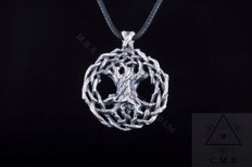 Yggdrasil  World Tree Silver Pendant
