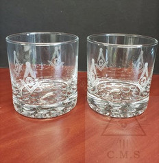 Masonic Whiskey Glasses