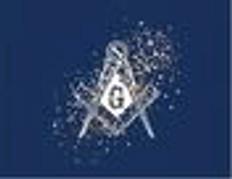 Set of 12 Masonic Cards   Blue with S & C