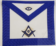 Master Masons Apron with All Seeing Eye        Hand Embroidered  14 x 16
