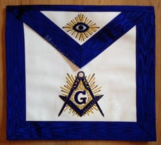 Master Masons Apron with All Seeing Eye -D       Hand Embroidered  14 x 16