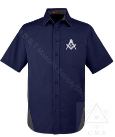 Classic Masonic Short Sleeved Shirt  Royal Blue