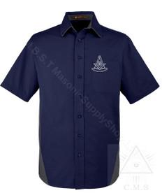 Classic Masonic Short Sleeved Shirt  Past Masters Emblem