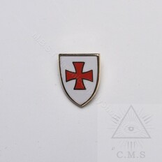 Knight Templar Shield  Lapel Pin