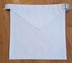 Masonic White Cotton Apron