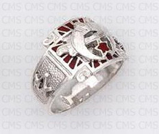 Shriner  Silver ring - 16