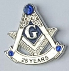Masonic 25 year Lapel pin