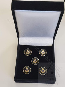 Set of fiver masonic Button Covers