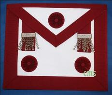 Master Masons Apron  RED