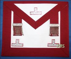 Past  Master Masons Apron  RED