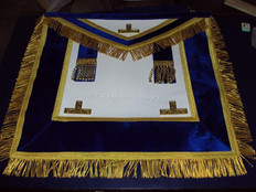 Past Master Apron Royal Blue with Fringe