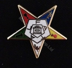 Order of the Easter Star Jeweled Pin