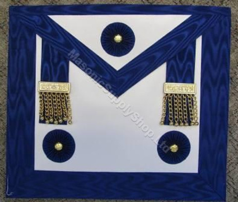 Master Masons Apron Royal Blue with Gold Ornaments