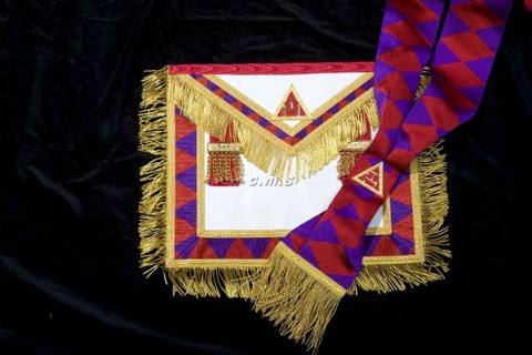 ROYAL ARCH PAST FIRST PRINCIPALS (HP)  APRON AND SASH  SET