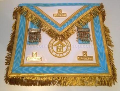 Centennial Trim PM Apron  with  Fringe & Lodge Badge