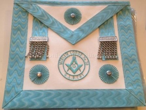 Master Mason  Apron with Lodge Badge