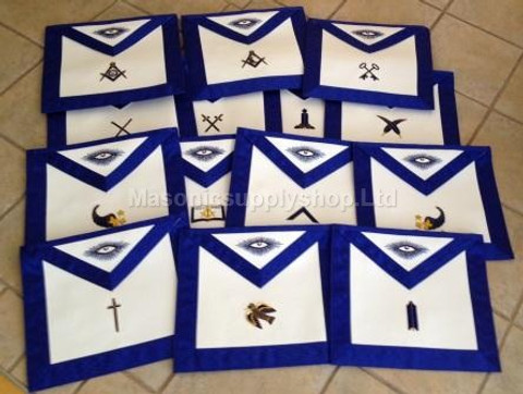 Traditional Officers Apron Set  Hand Embroidered