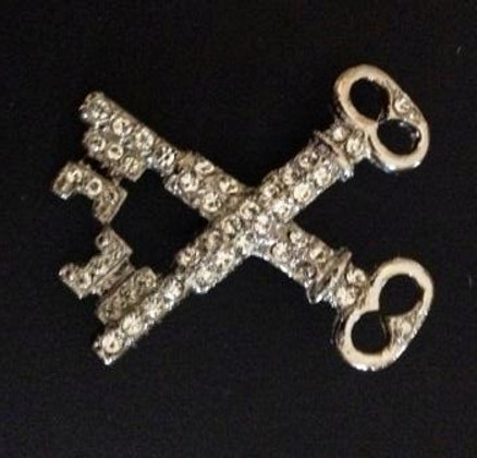 Order of the Easter Star Pin Officer Jewel  Crossed Keys