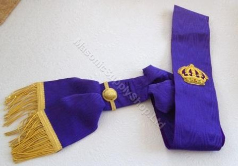Red Cross of Constantine Sash with Crown