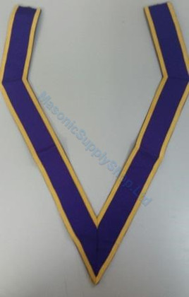Royal Purple Collaret with Gold Trim
