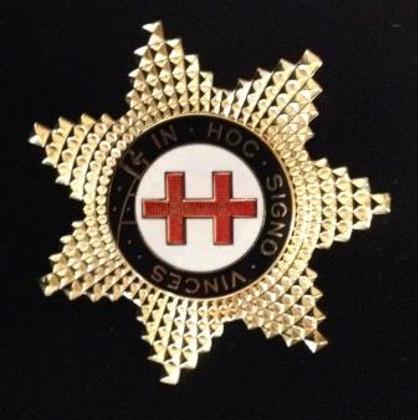 Knight Templar Preceptor Star Jewel  Gold