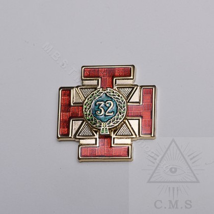 Scottish Rite  32 Degree Lapel Pin