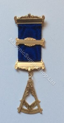 Past Master Breast Jewel Royal Blue  3 Bar